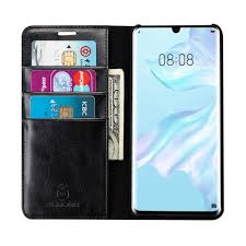 Etui Leder Wallet Black Huawei P 30 lite DS